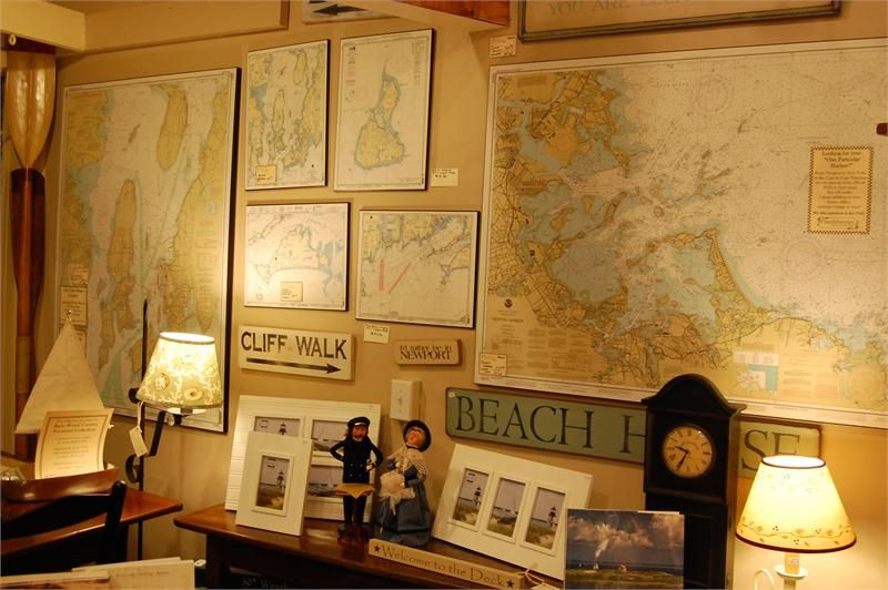 Superbe Nautical Office Decor | Barnstable Harbor Mounted Nautical Chart NOAA 13251