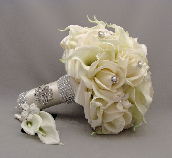 Silk flower bridal bouquet stephanotis real by songsfromthegarden silk flower bridal bouquet stephanotis real by songsfromthegarden mightylinksfo