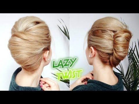 Easy Lazy Hairstyle Quick French Twist Bun Updo Awesome Hairstyles Youtube Easy Lazy Hairstyles French Twist Hair Cool Hairstyles