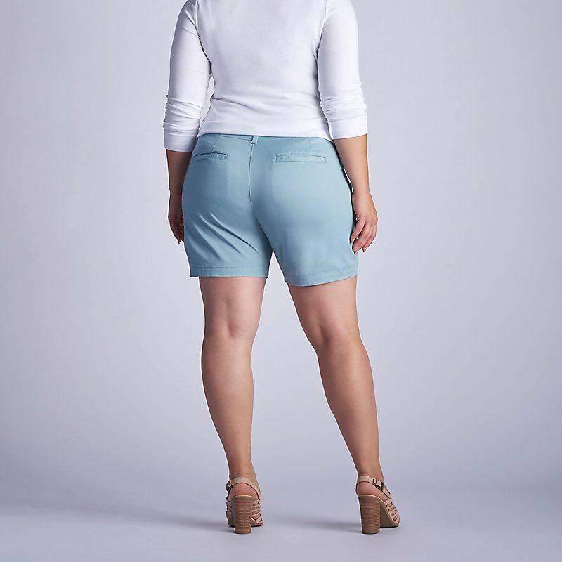 70e2061ab60 Lee Women s The Essential Chino Walkshort - Plus Size Shorts - 16W M ...
