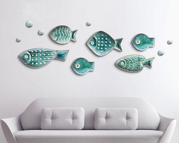 Ceramic Fish Starfish Shaped Decorative Hanging Decor