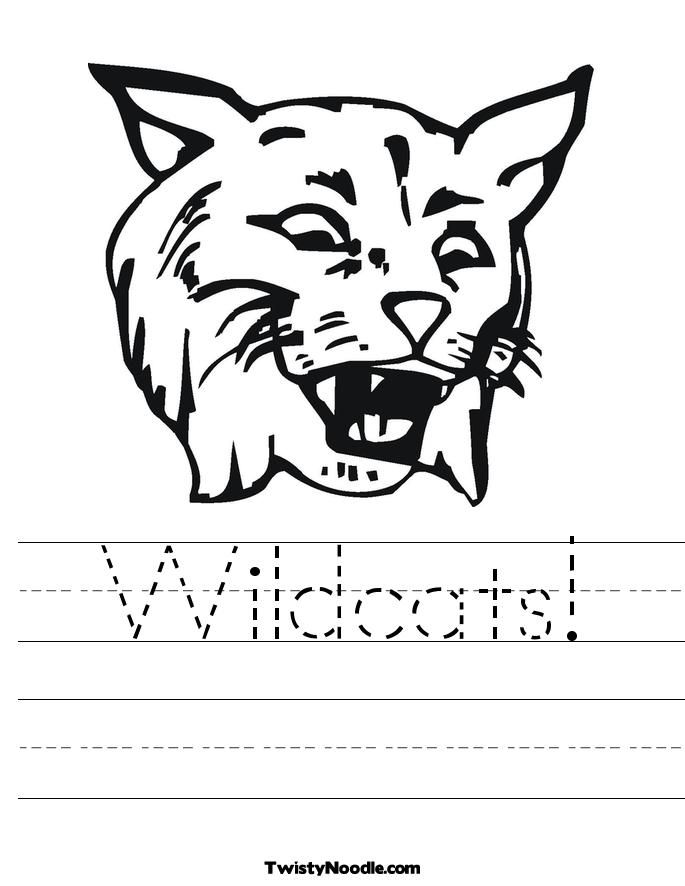 Willie Wildcat Color Sheet Winter Park High School Animal
