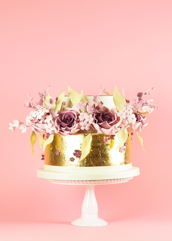 Pink and Gold Roses | Wedding cakes | Pinterest | Cake, Celebration ...