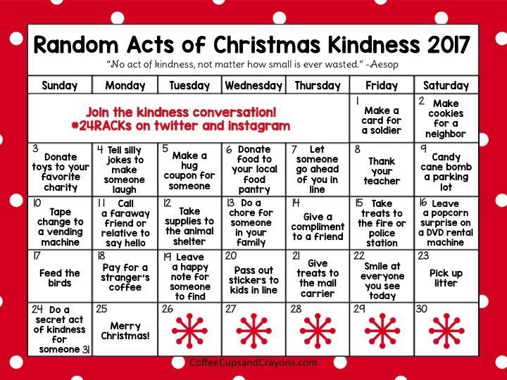 Random Acts Of Christmas Kindness Advent Calendar