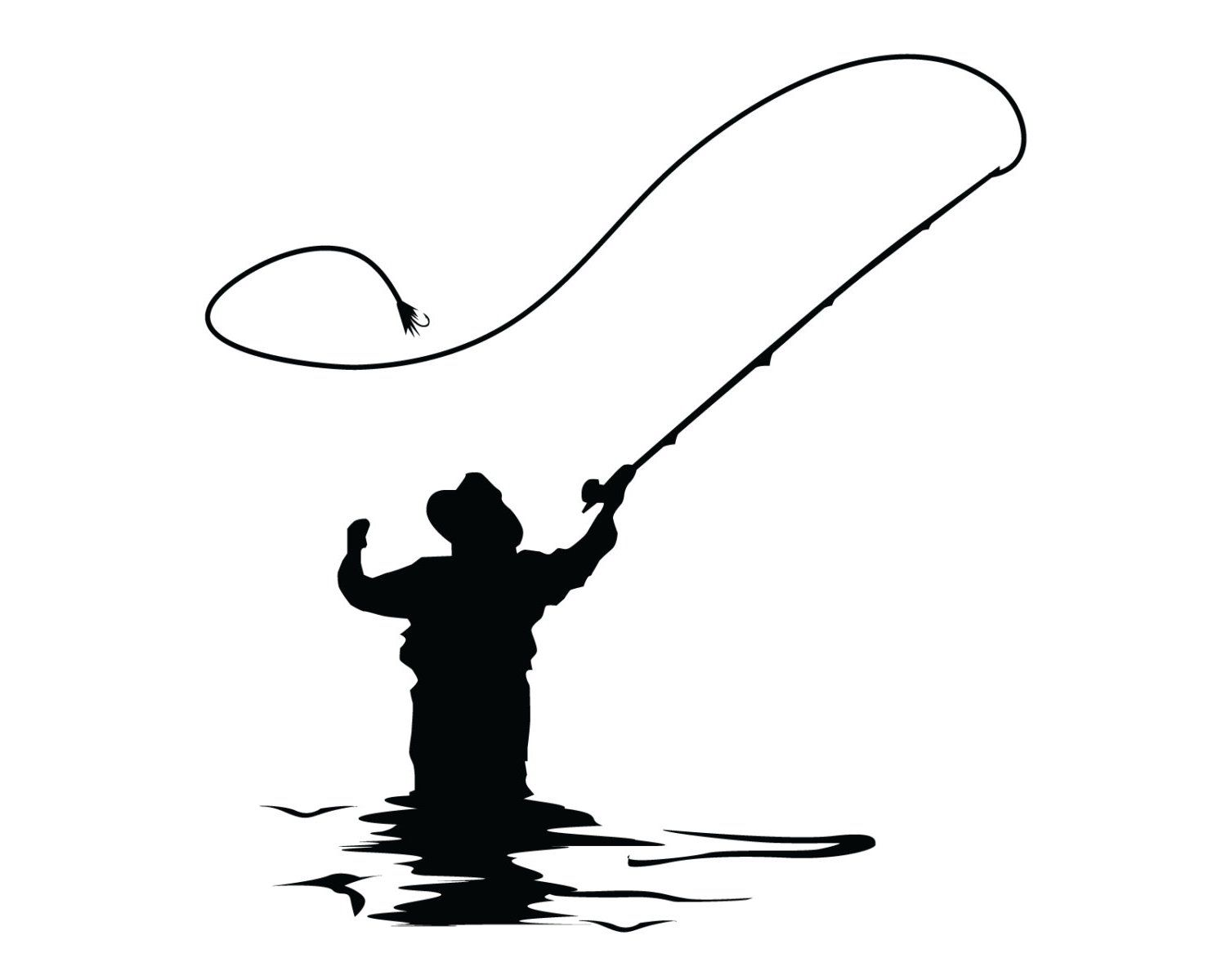 Fly Fishing Pole Clipart