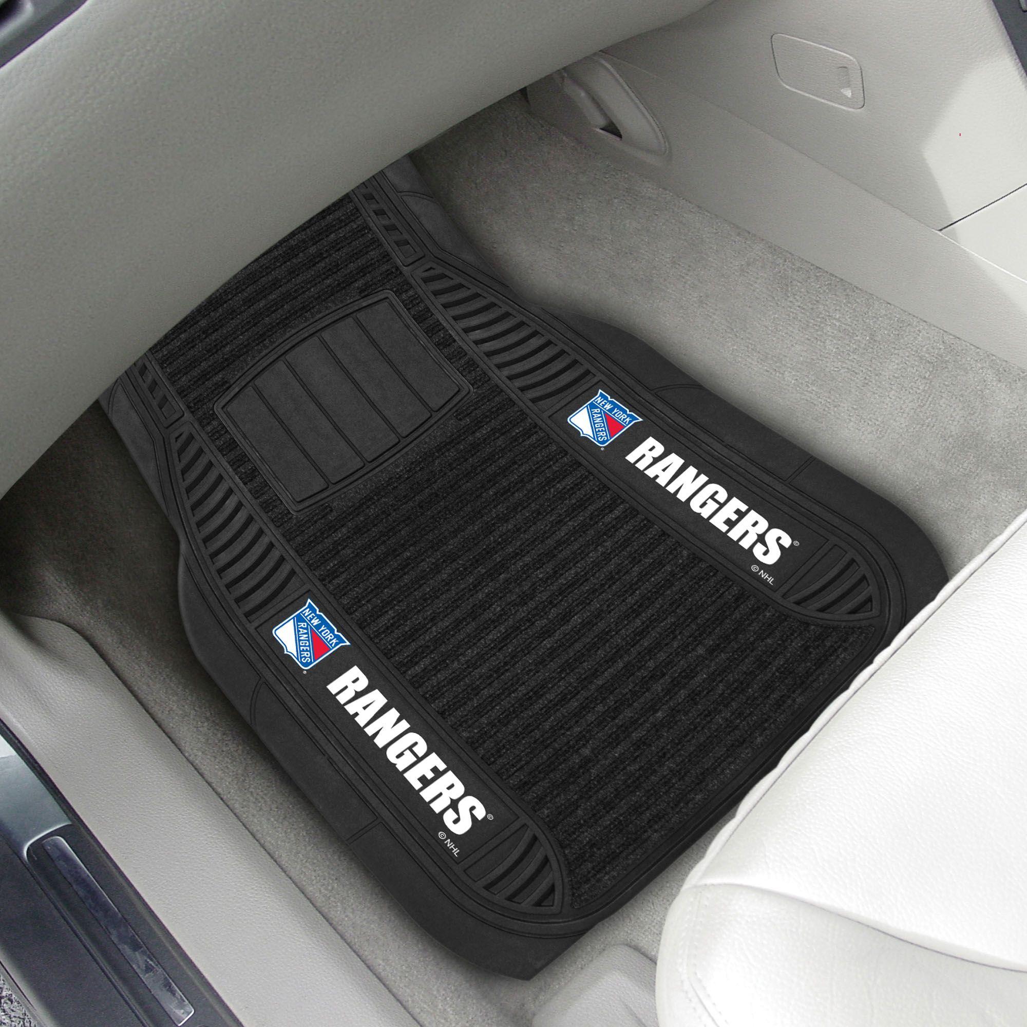 New York Rangers Deluxe Mat Car Mats Nfl Car Car Floor Mats