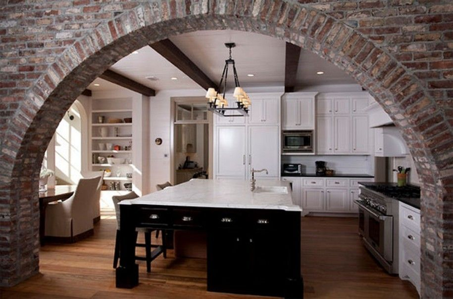 Kitchen Design Marble interior brick wall design ideas â º interesting red brick