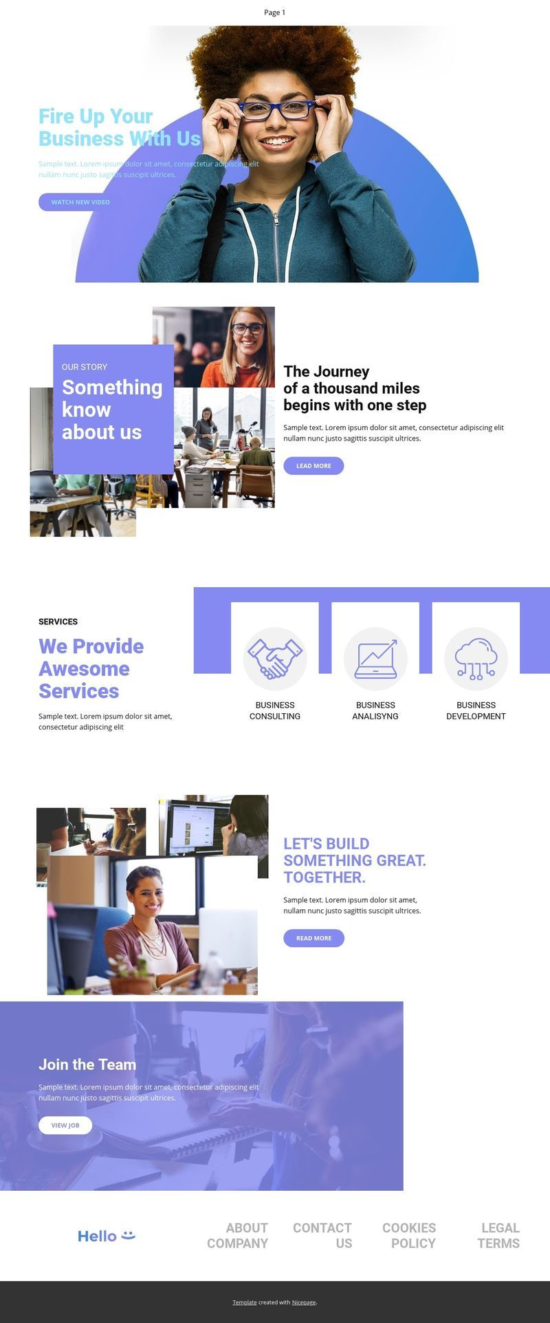 Business Web Template  Click and start edit this web
