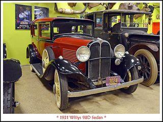 1931 Willys 98d Sedan
