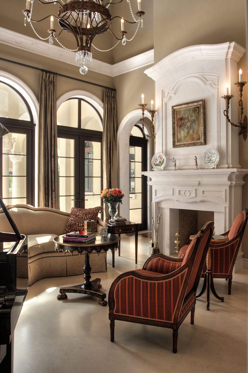 Luxurious formal living room sherwin williams windsor greige ceilings classic decoracion - Casas interiores decoracion ...