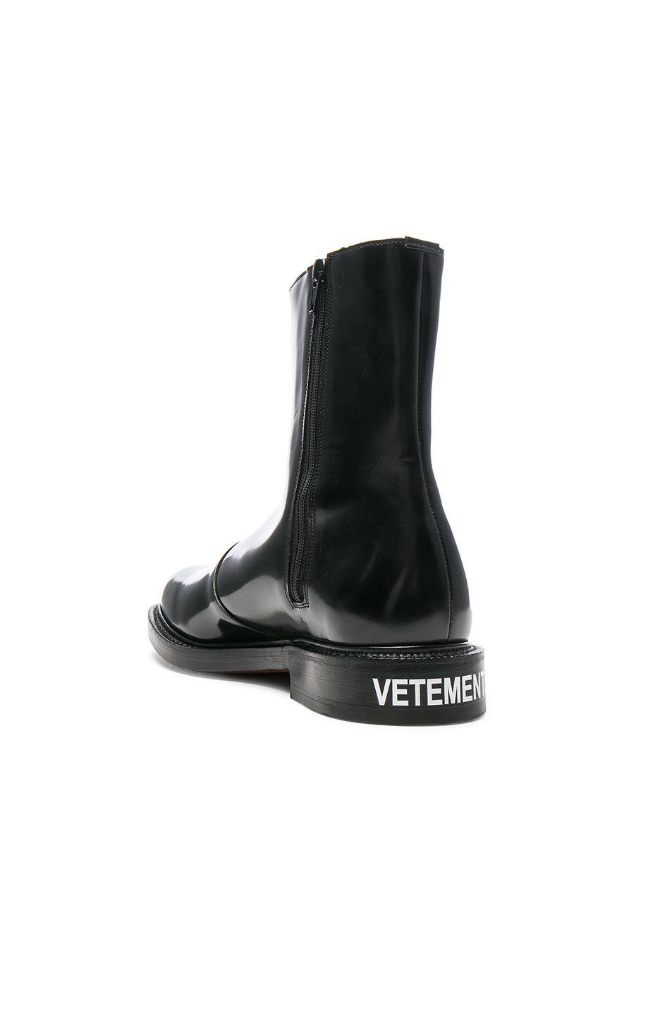 Black Churchs Edition Logo Ankle Boots VETEMENTS