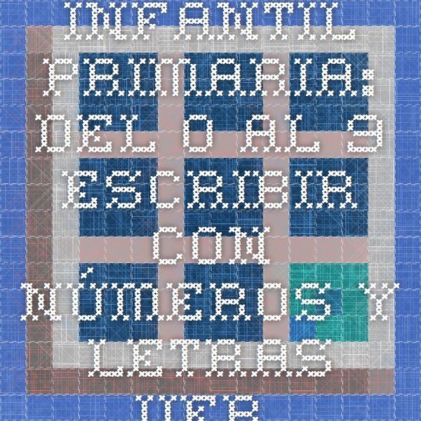 Infantil-Primaria: Del 0 al 9. Escribir con números y letras. Ver. castellano/catalán.