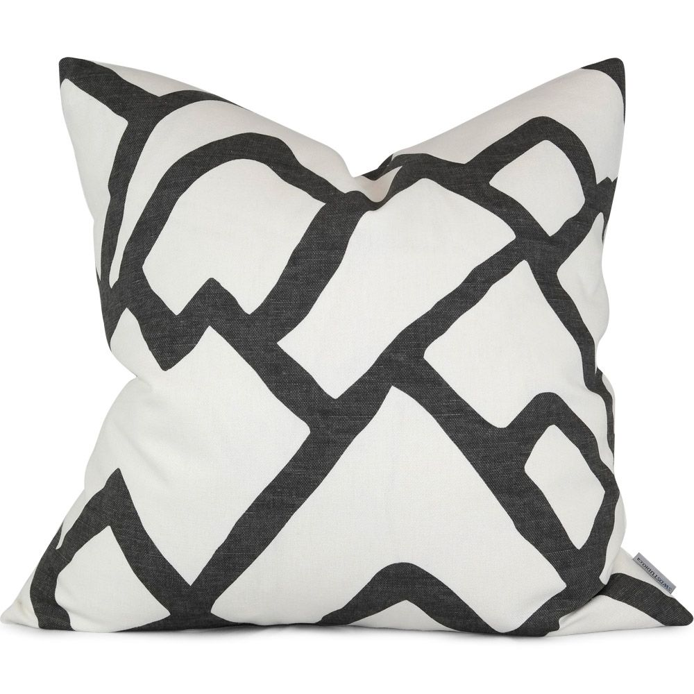 Zimba In Charcoal Pillow Cover By Swd Studio Shown In 20 X 20 Handmade In Toronto Canada Www Designer Decorative Pillows Charcoal Pillow Pillow Covers
