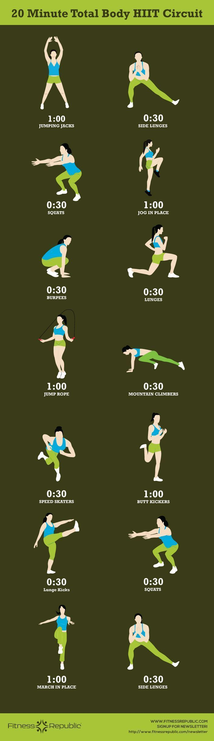 Circuito Hiit : Minute total body hiit circuit find more relevant stuff