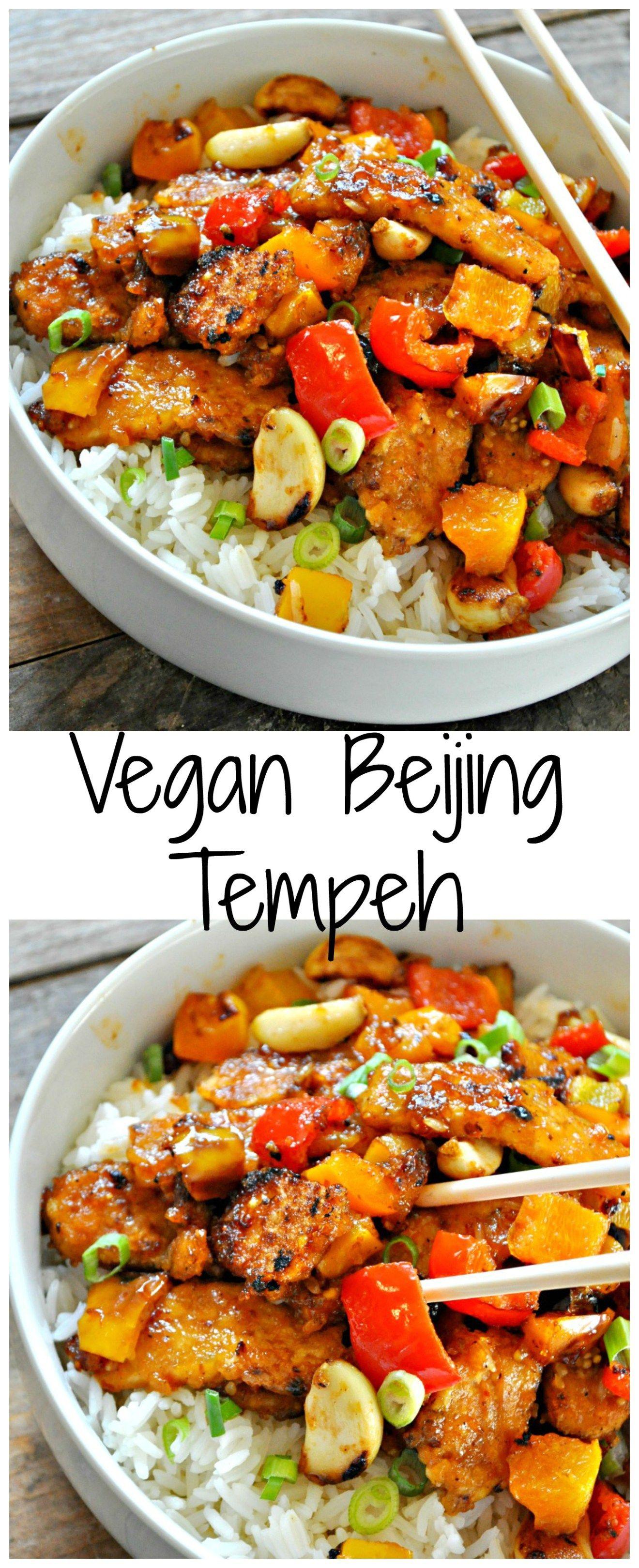 Vegan Beijing Tempeh Recipe Vegan Dinner Recipes Vegan Dinners Vegetarian Recipes