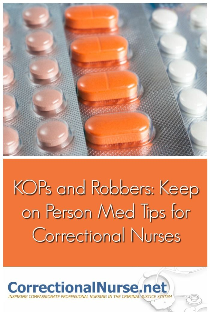 Keep on Person (KOP) medication administration is common in many jails and prisons. This process allows inmates to keep medications based on direction.