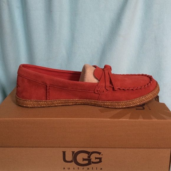 UGG Moccasins I am selling A Cute New pair of UGG Moccasins. They are a size 8.5 in women's. The style is called Amila. Feel free to ask any questions! UGG Shoes Moccasins