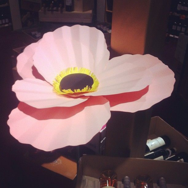 Giant paper poppies - tutorial from The House That Lars Built