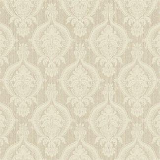 York Wallcoverings French Dressing Weave Damask Wallpaper