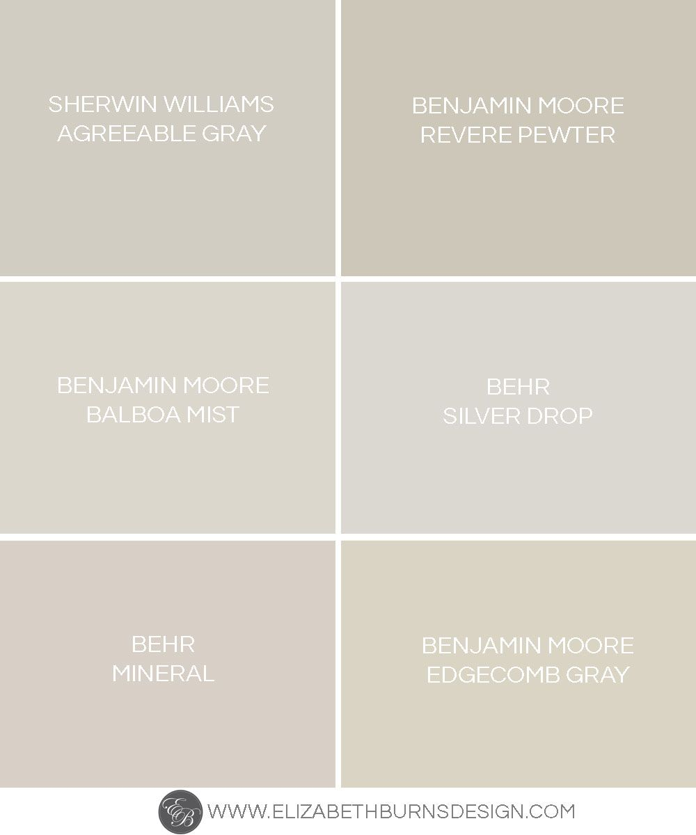 Elizabeth Burns Design Greige Paint Colors The Perfect Warm Gray Sherwin