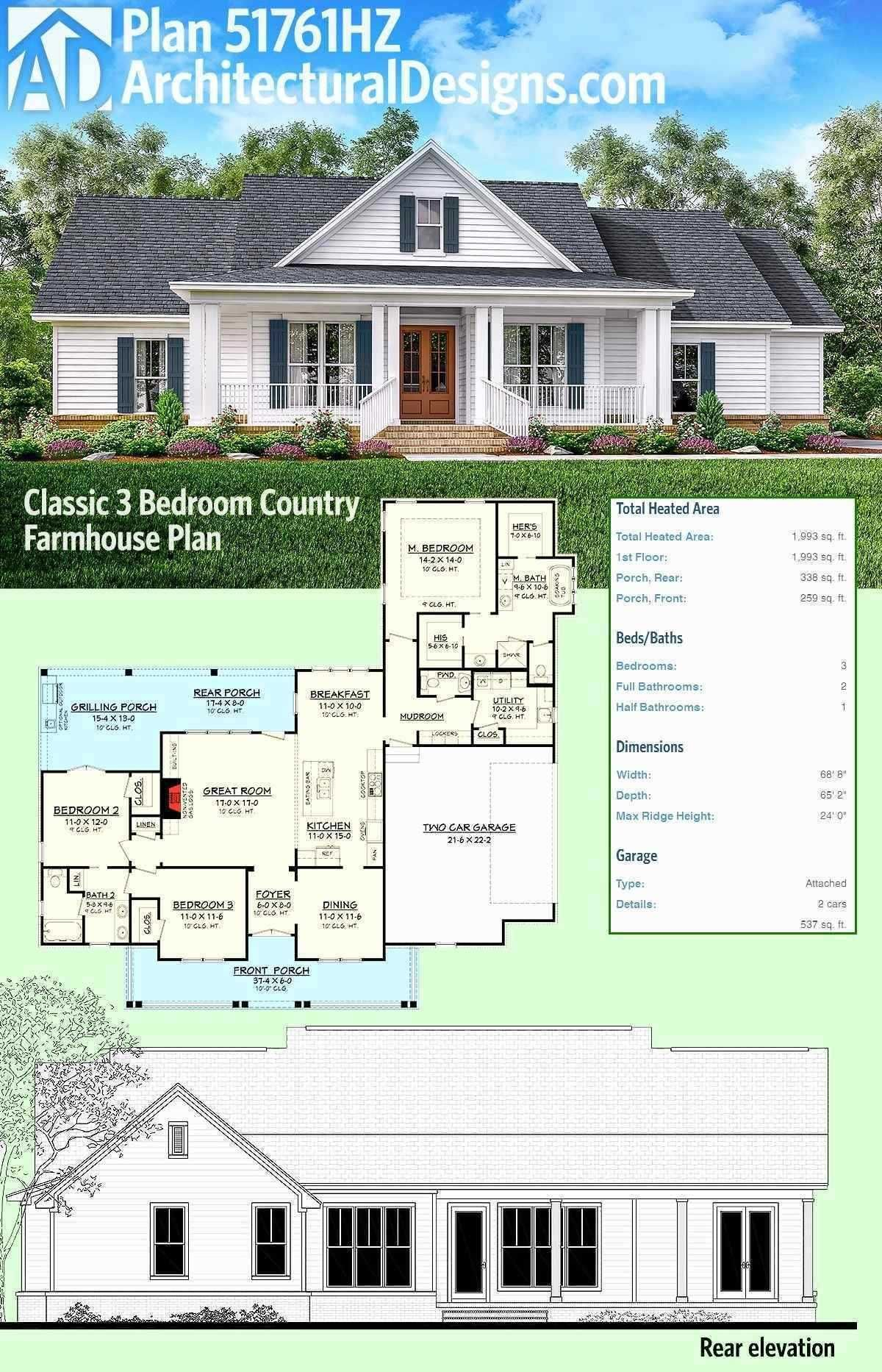 One Story Farmhouse Plans Wrap Around Porch Awesome Farmhouse House Plans With Wrap Arou Architectural Design House Plans Farmhouse Floor Plans Farmhouse Plans