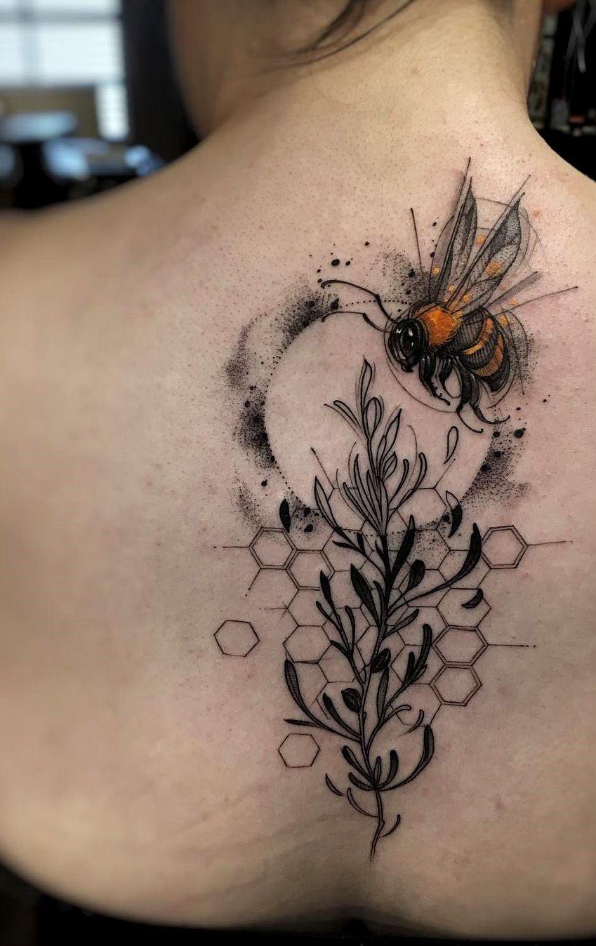 Bee Tattoo Art By Felipe Rodrigues Evamigtattoos