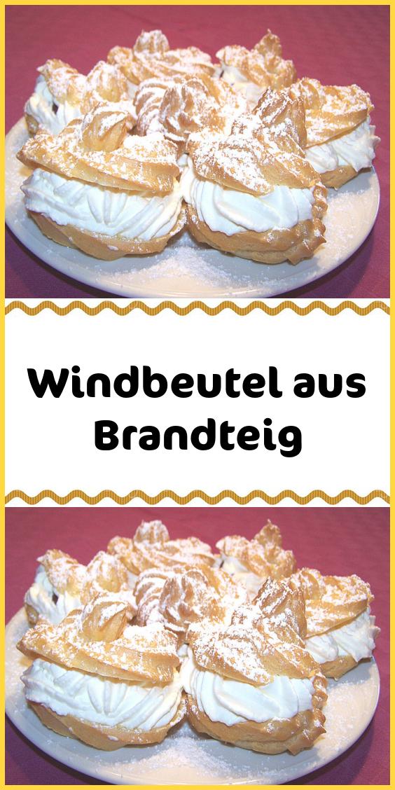 Windbeutel aus Brandteig