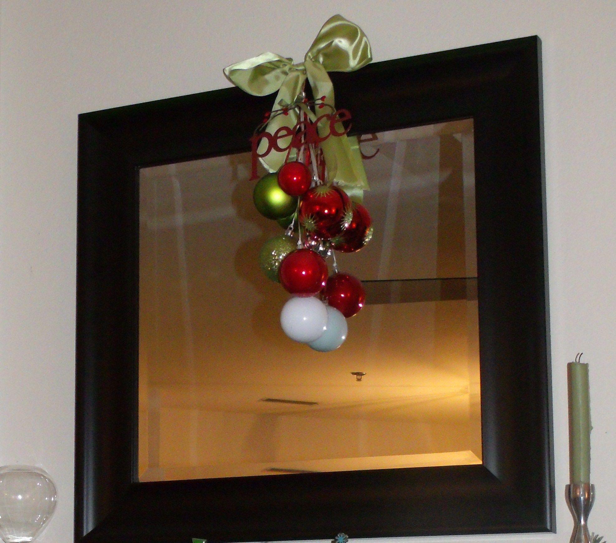 Christmas Mirror Decor Southern Christmas Christmas Decor Diy