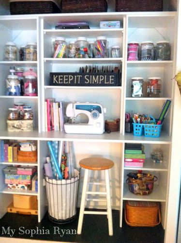 A Standard Closet Transformed Into Craft Work Station By Mysophi Clutterfree Craftroom