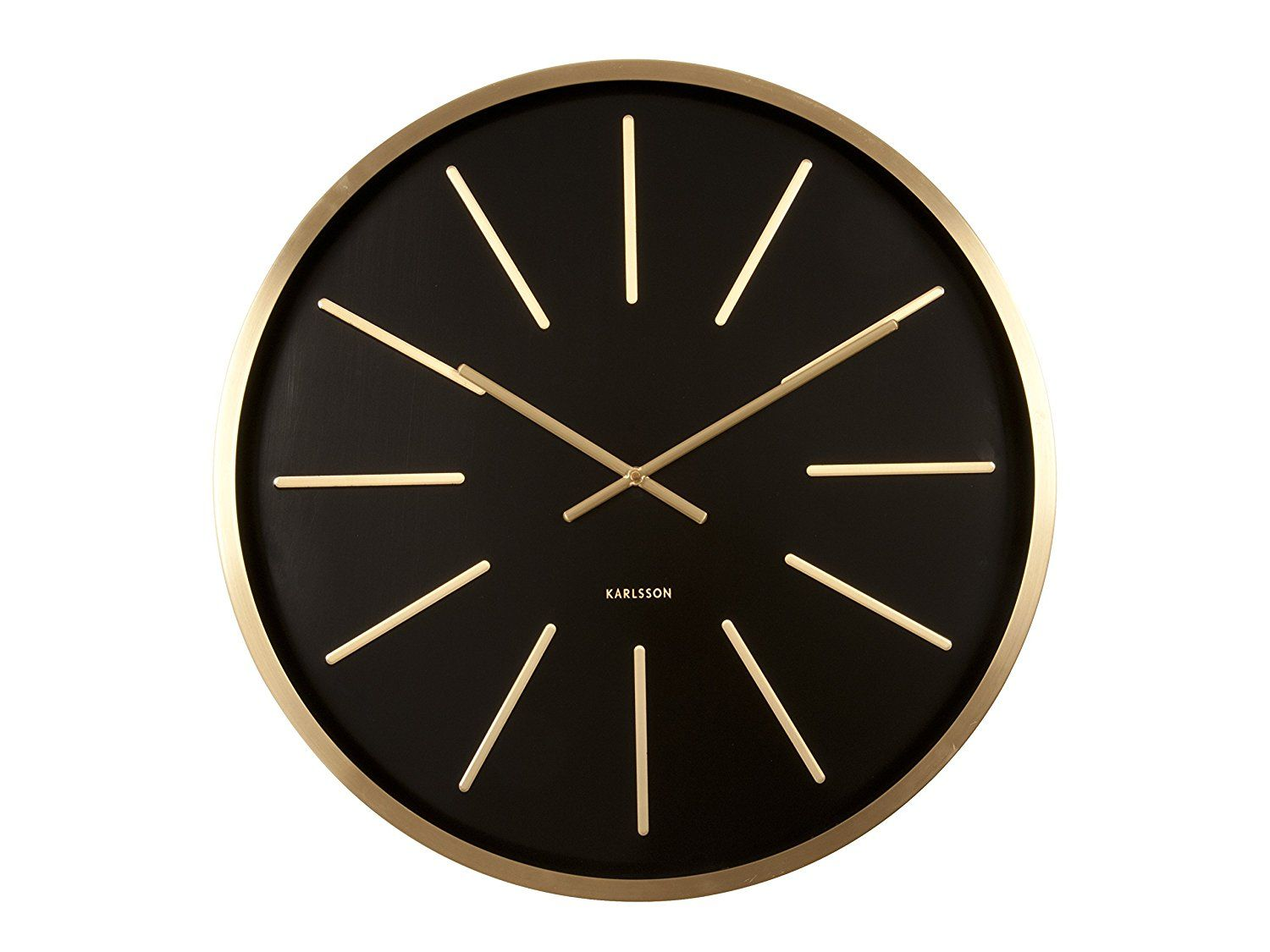 Karlsson Maxiemus Wall Clock Black Co Uk Kitchen Home