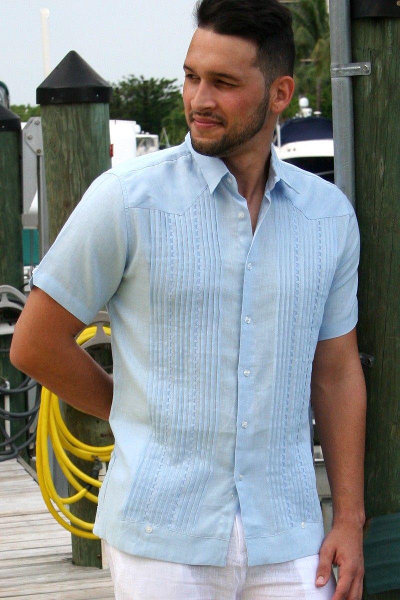 Cuban guayabera men google search vinoy rennaisance for Men s dressing style for wedding
