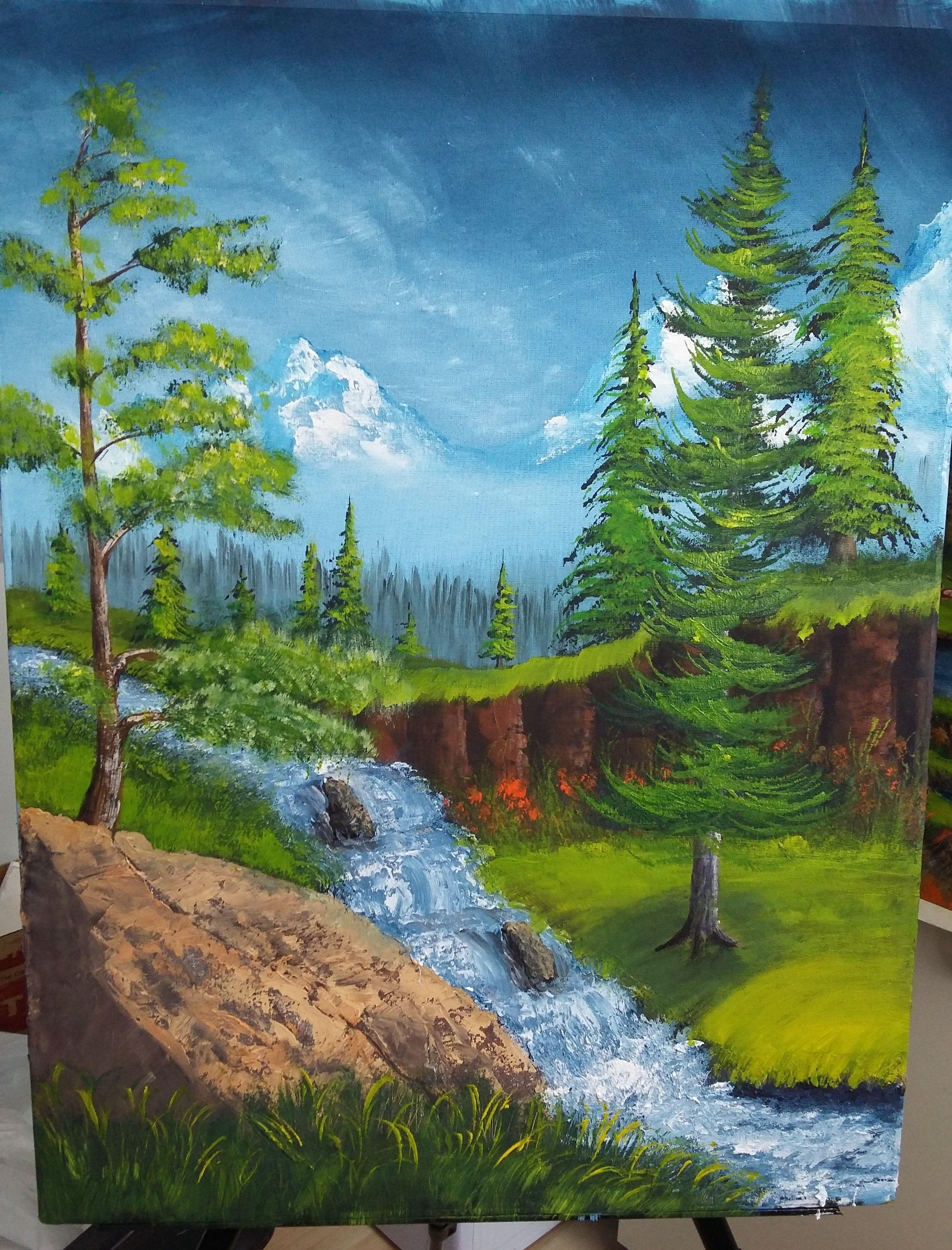Fantasia Montana Y Cascada Dibujo Bosque Cascadas Paisajes