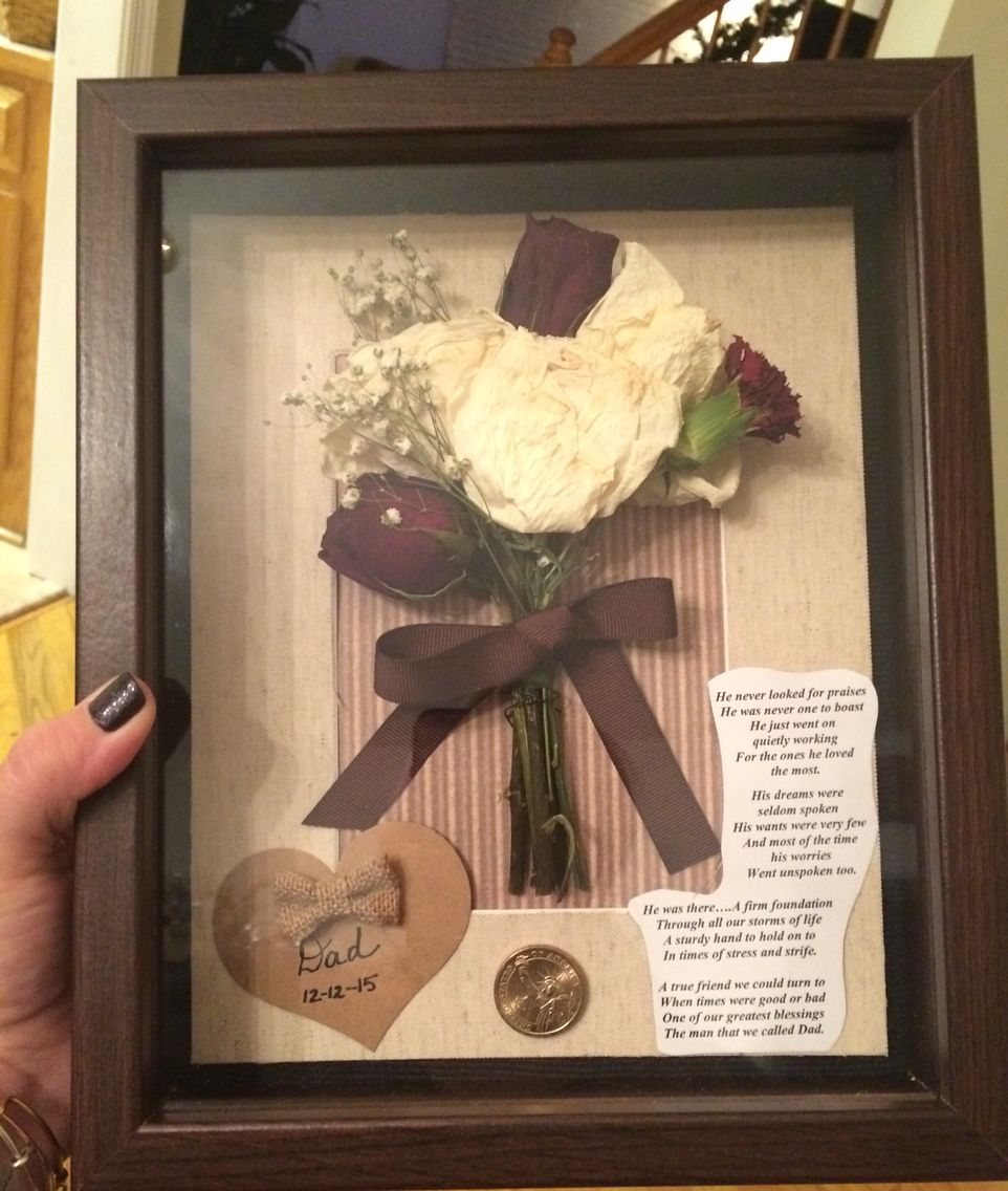 Love how my shadow box turned out...in memory of my dad! | Crafts ...