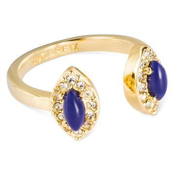 SUGARFIX by BaubleBar™ Teardrop Adjustable Ring - Blue Gold
