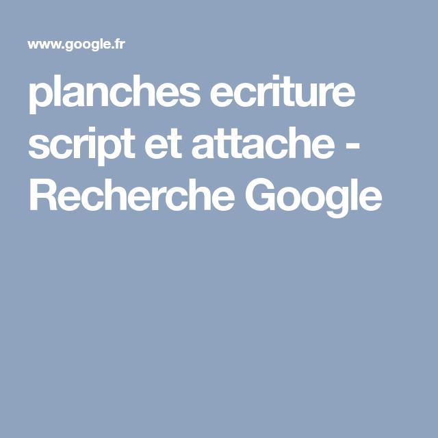 Planches Ecriture Script Et Attache