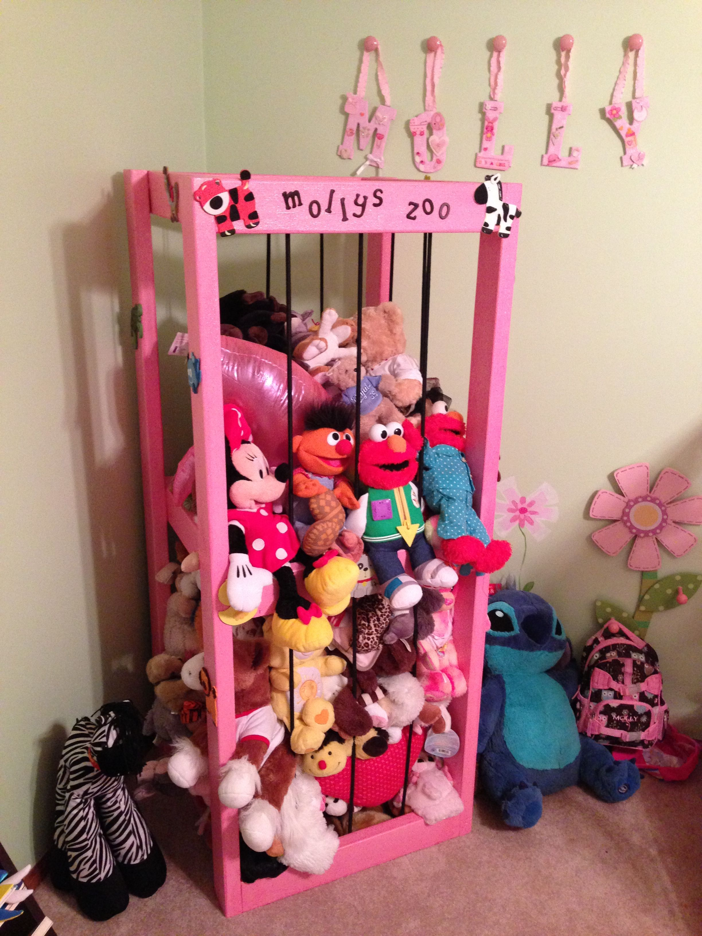 Stuffed Animal Toy Storage: Animal Cage For Stuffed Animals I Made For My Daughter