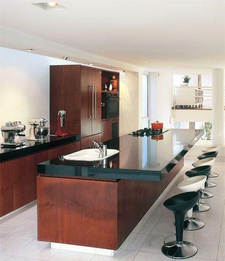 Esta Cozinha Gourmet E Dentro Da Sala Piso Em Marmore Carrara