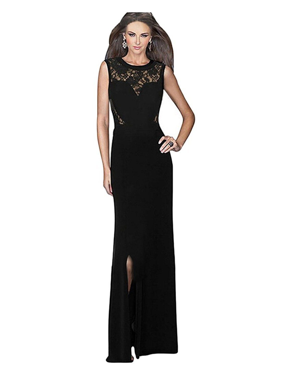 Awesome awesome ca mode womenus maxi lace formal gown ball evening