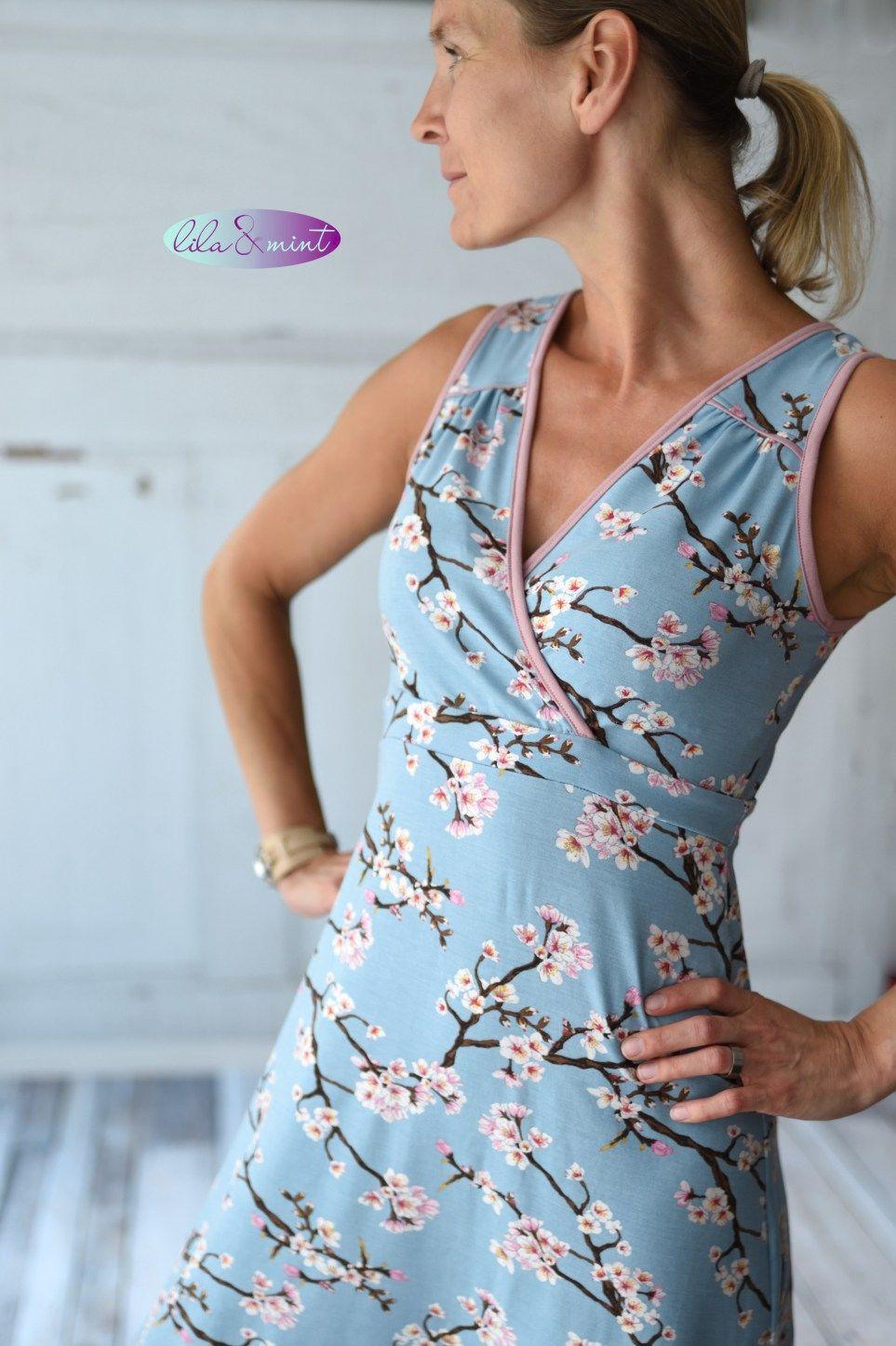 Farbspektrum Lila Mint Nahen Und Bloggen Kleider Damen Kleidung Kleid Selber Nahen