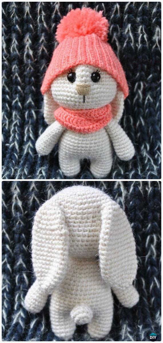 Crochet Amigurumi Bunny Toy Free Patterns Instructions | Conejo ...