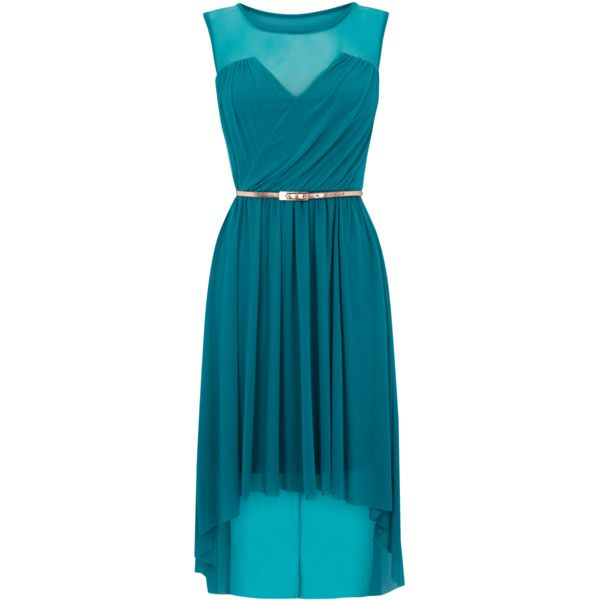 Warehouse Mesh High Low Hem Dress ($88)