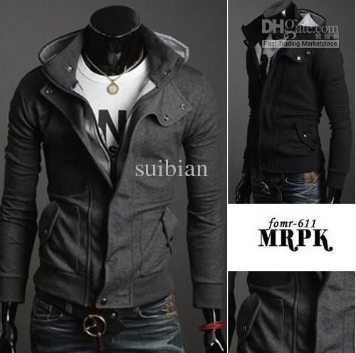 Hot! Mens Outerwear & Coats Coats Jackets Sweater Jackets Slim Fit ...