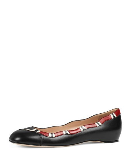 d1bb21017 Gucci Lexi Studded Leather Lip Ballet Flats   Nice little thingys I ...