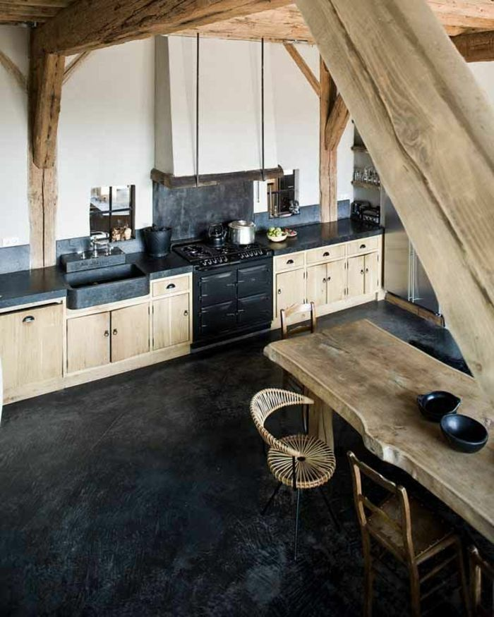 La Cuisine En Bois Massif En Beaucoup De Photos Modern Rustic Lofts And House Projects