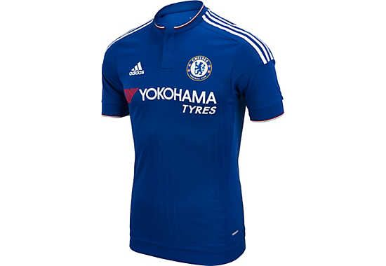 a0ef66a95 2015 16 adidas Authentic Chelsea Home Jersey. Available right now at  www.soccerpro