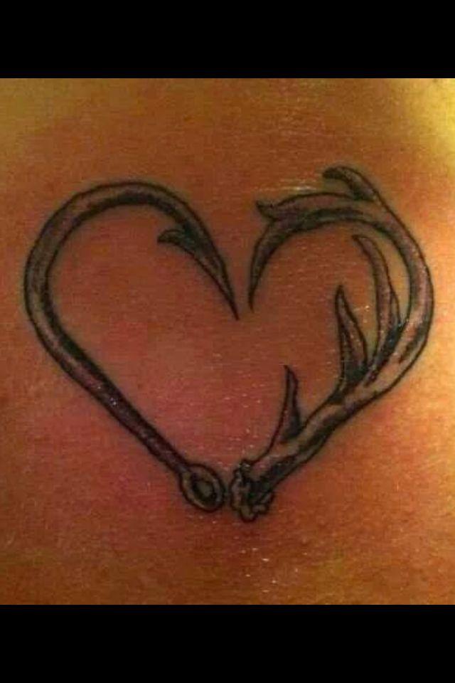 a88141f55 Cute tattoo idea   Country Living   Antler tattoos, Cute tattoos ...