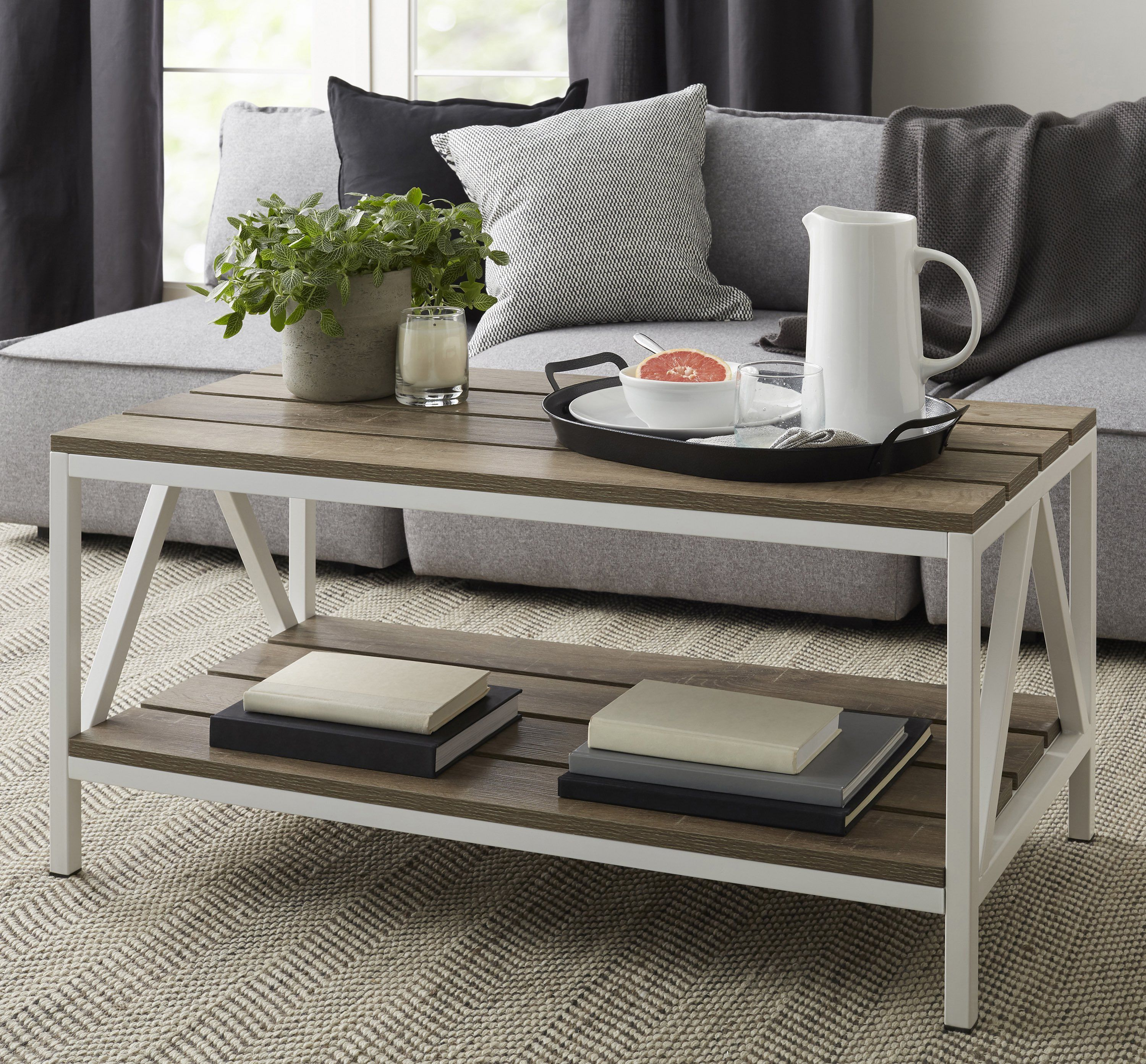 home coffee table wood coffee table rustic affordable on modern farmhouse patio furniture coffee tables id=60391