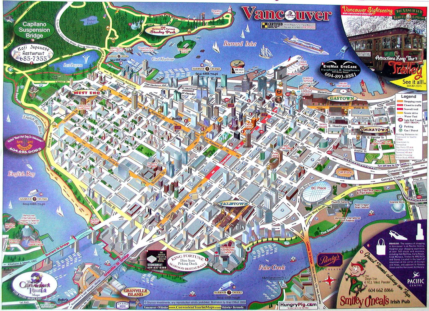 Vancouver BC This map makes me think that Vancouver is like Six