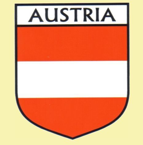 For everything genealogy austria flag country flag austria decals stickers set of 3 15 00