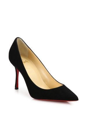7779451b6f5 CHRISTIAN LOUBOUTIN Decoltish Suede Point-Toe Pumps ...